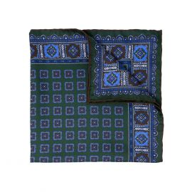 SERA' FINE SILK Flowers Primitivo Silk Handkerchief