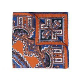SERA' FINE SILK Leather Barolo Silk Handkerchief