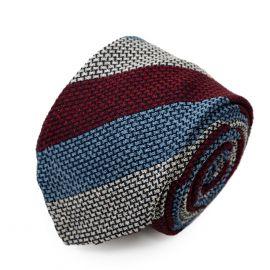 SERA' FINE SILK Multicolor Big Striped Grenadine Silk Tie
