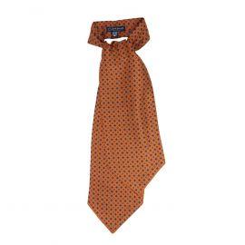 SERA' FINE SILK Orange Pattern Silk Ascot