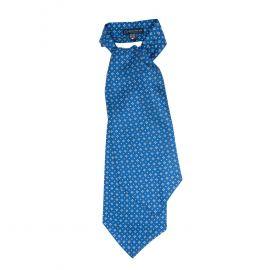 SERA' FINE SILK Royal Blue Pattern Silk Ascot