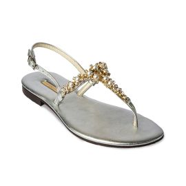 SILVER with Pearls Embellished Sandals