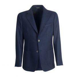 VIRUM NAPOLI Blue Herringbone Single-Breasted Jacket