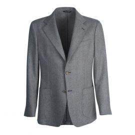 VIRUM NAPOLI Grey Herringbone Single-Breasted Jacket