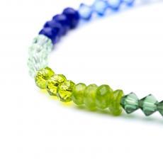 Rainbow Jade & Swarovski Bracelet