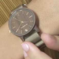 FREEDOM 35 SAND Walnut Wood Unisex Watch