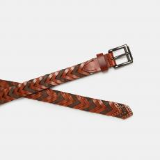 Brown Handbraided Suede and Leather Belt