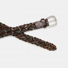 BOB Brown and Military Green Handbraided Leather Belt