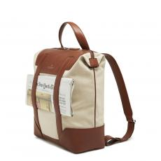 BRERA Cognac and Natural Tote/Backpack