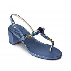 AZURE Heel with Multicolor Crystals Embellished Sandals