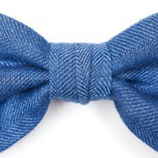 Azure Silk Bow Tie