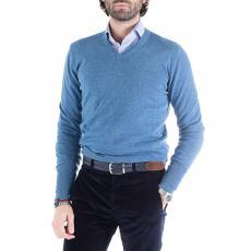 EWEN Robin Egg 100% Cashmere V-Neck Pullover