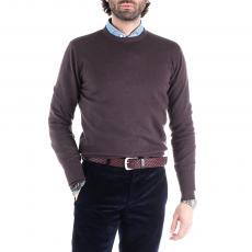 GLENN Brown Wool&Cashmere Round-Neck Pullover