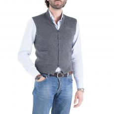 SCOTT Grey Wool&Cashmere V-Neck Gilet