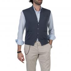 Iron 100% Cotton V-Neck Gilet