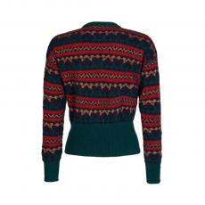 Patterned Wool and Mohair Round-Neck Sweater