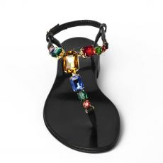 BELLE Black Multistones-embellished Nappa leather sandals