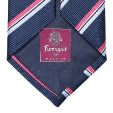 Blue, Pink, and Azure Stripes Silk Tie