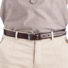 BUTTERO Chocolate leather belt