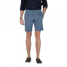 Jacquard Azure Cotton Bermuda Shorts