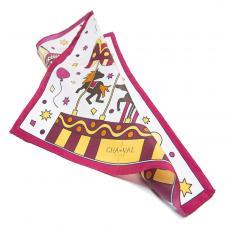 THE MERRY-GO-ROUND 100% Silk Twill Handkerchief