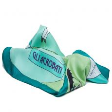 THE ACROBATS 100% Silk Twill Handkerchief