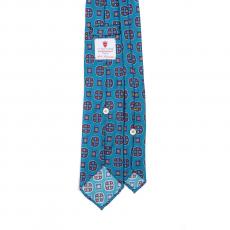 AZURE VINTAGE 7 Fold Silk Tie