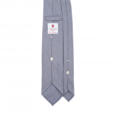 PRINCE OF WALES BLUE 7 Fold Flannel Tie