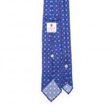 BLUE VINTAGE 7 Fold Silk Tie