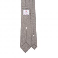 PIED DE POULE BROWN 7 Fold Flannel Tie