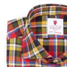CORTINA Checked Double Twisted Cotton Shirt