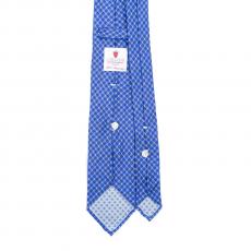 FLORAL BLUE / AZURE VINTAGE 7 Fold Silk Tie