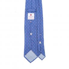 FLORAL BLUE / ROSE VINTAGE 7 Fold Silk Tie
