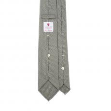 PIED DE POULE GREEN 7 Fold Flannel Tie
