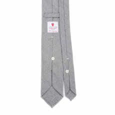 PRINCE OF WALES GREEN 7 Fold Flannel Tie