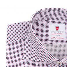 LONDON Patterned Double Twisted Cotton Shirt