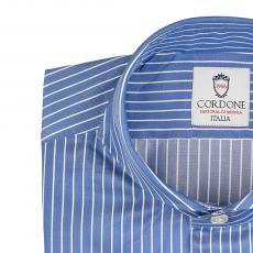 LORD BYRON 305-3 Blue with White Stripes Cotton Shirt