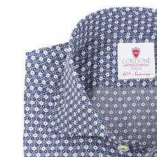 MADRID Floral Double Twisted Cotton Shirt
