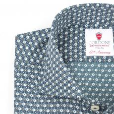 MONTECARLO Floral Double Twisted Cotton Shirt