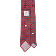 RED VINTAGE 7 Fold Silk Tie