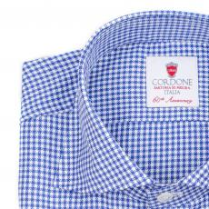 ROYAL Azure & White Checkered Twill Cotton Shirt
