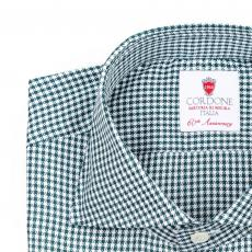 ROYAL Green & White Checkered Twill Cotton Shirt
