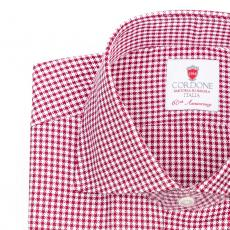 ROYAL Red & White Checkered Twill Cotton Shirt