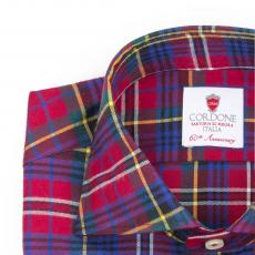 SAINT MORITZ Tartan Double Twisted Cotton Shirt