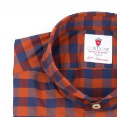 SIDNEY Checkered Double Twisted Cotton Shirt