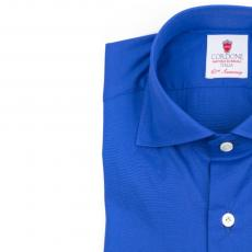 SAINT TROPEZ Electric Blue Cotton Shirt