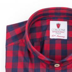 VENEZIA Checkered Double Twisted Cotton Shirt