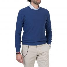 LIMITED EDITION Blue Seed Stich 100%Cotton Round-Neck Sweater