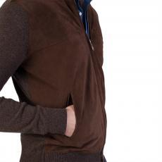 Brown Cashmere and Buckskin Jacket