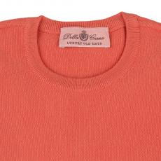 LIMITED EDITION Orange Seed Stich 100%Cotton Round-Neck Sweater